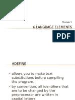 C Programming Module 3 Language Elements