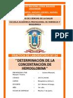 Prac 4 BQ1 PRÁCTICA DE LABORATORIO Nº 04 ''DETERMINACIÓN DE LA CONCENTRACIÓN DE HEMOGLOBINA''