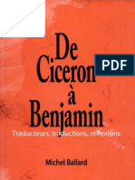 De Cicéron à Benjamin-Michel Ballard