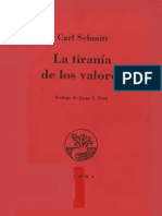 Schmitt Carl - La Tiranía de los Valores