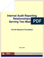 TheIIA 2003 _ Internal Audit Reporting Relationships - Serving Two Masters