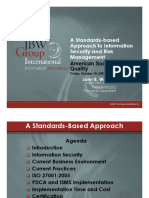Presentation _ JBWA 2007 _ a Standards-based Approach to Information Security and Risk Management