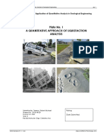 A Quantitative Approach of Liquefaction Analysis