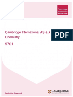 Cambridge Learner Guide for as and a Level Chemistry