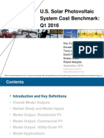 Solar PV Cost Trends to 1Q16 NREL 9-16 Presentation