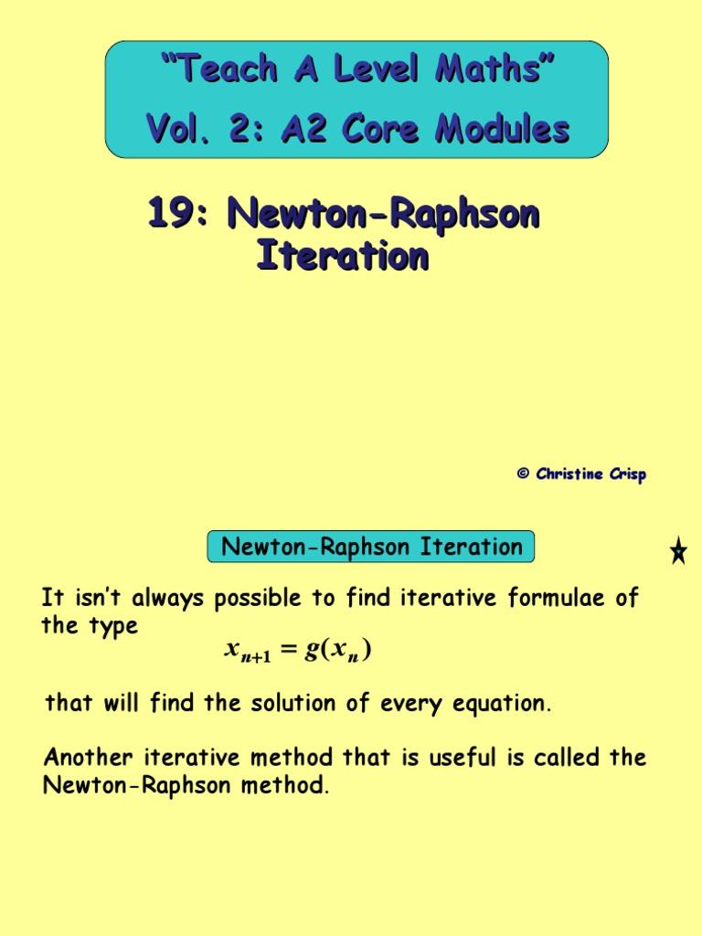 19 Newton-Raphson Iteration Copy | Mathematical Objects