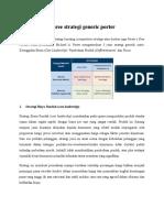 Three Strategi Generic Porter