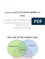 Assessment of Animal Welfare in Zoos (1)