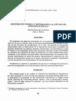 Aproximacion Teorica Y Metodologica Al Estudio Del Aprendizaje