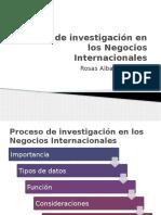 Proceso de Investigación en Los Negocios Internacionales