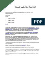 10 Tuntutan Buruh Pada May Day 2015