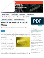 Portals of Heaven, Ancient Gates - Walking in the Supernatural