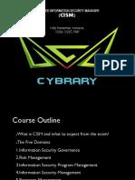 CISM Course Outline