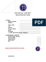Individual Contest Form