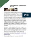 Normas Internacionales Del Trabajo Sobre La Seguridad Social