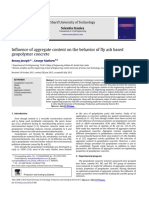 Influence of Aggregate Content on Geopolymer concrete