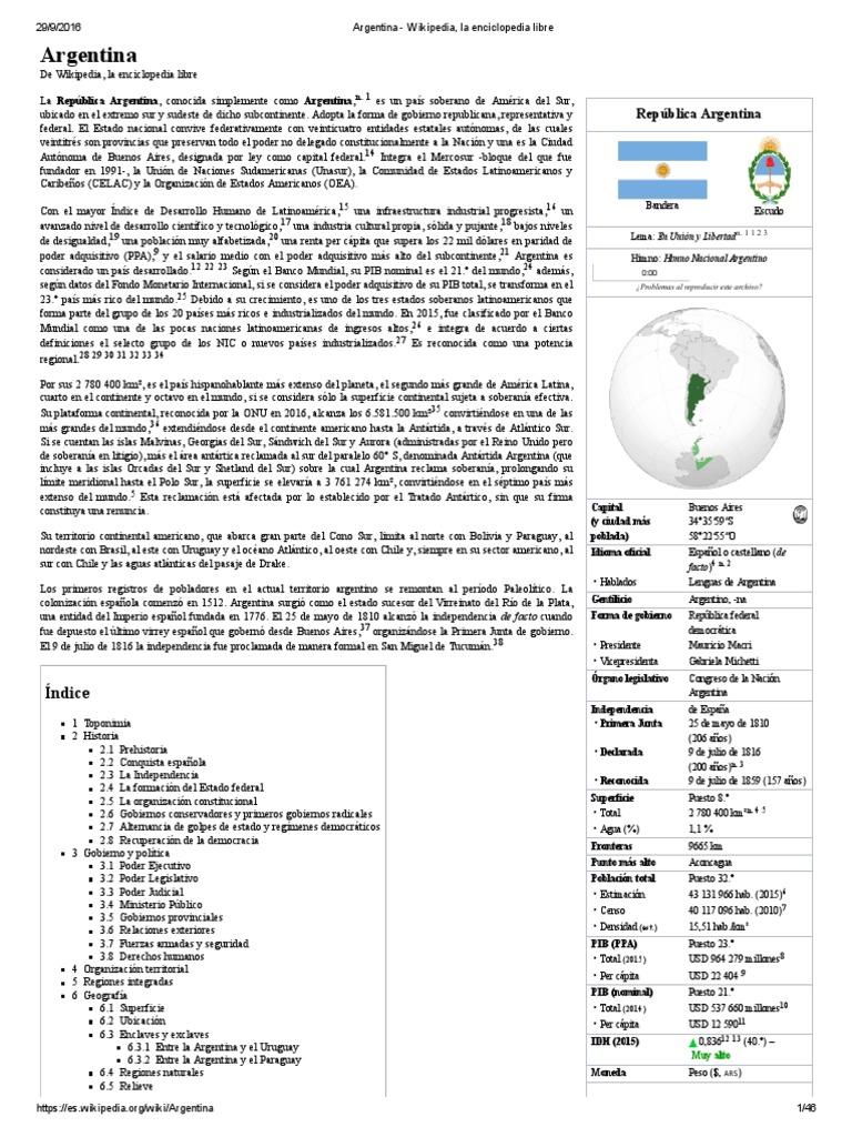 argentina wikipedia la enciclopedia libre