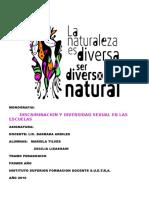 Discriminacion y Diversidad Sexual en Las Escuelas