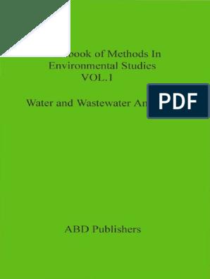 S K maiti-Water and Wastewater Analysis (Handbook of Methods