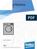 Beko Washing Machine WMY 814832 Manual