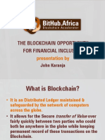 The Blockchain Opportunity for Financial Inclusion