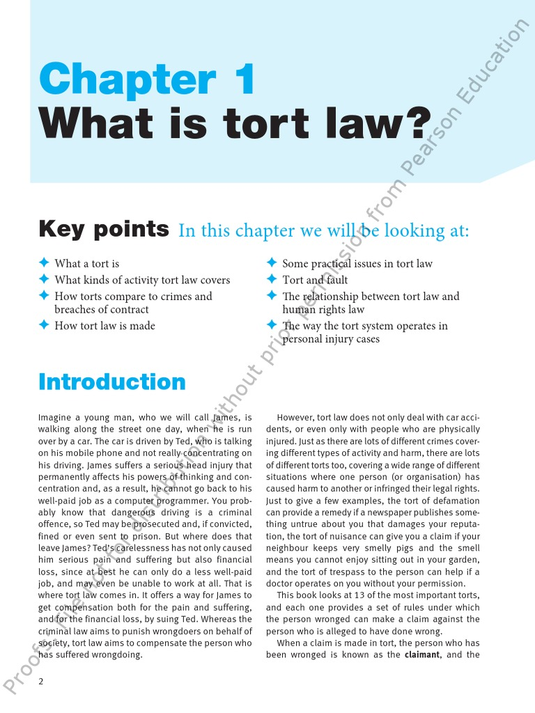 difference between contract and tort law