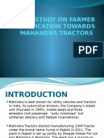 A Study on Farmer Satisfication Towards Mahandra Tractors
