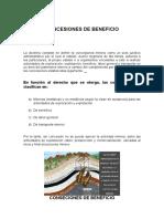 Concesiones de Beneficio (1)