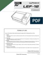 Roland LEF-12 Service Manual