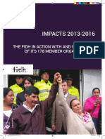 FIDH Impacts from 2013 to 2016