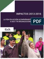 FIDH Impactos 2013-2016