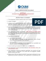 BMOM5203 ORGANISATION AND BUSINESS MANAGEMENT