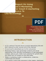 A Project Report on Using Personalised E-marketing