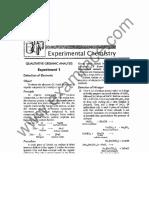 Chemistry Experimental Chemistry