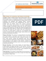 Topic 13(Functions of Various Sections of Kitchen )