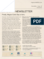 Magna Carta Newsletter June 2015