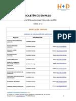 BOLETÍN DE EMPLEO Nº 12 - FUNDACIÓN H+D