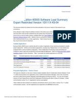 BE6000S SoftwareLoadSummary 10X11X K9 04