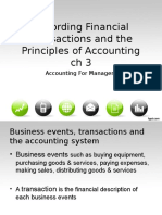 Accounting for Managers - Ch 3 - Recording Financial Transactions...