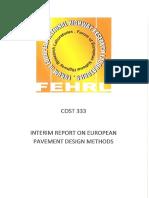 Cost 333 Interim Report on European Pavement Design Methods