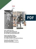 A Golden theme - Life of Terrance Fox - Poem - Subramanian A