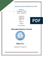 SEM v Anshika Jain Roll No. 17 Sec B Company Law Projet