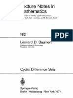 (Lecture Notes in Mathematics) Leonard D. Baumert-Cyclic Difference Sets -Springer (1971)(1)