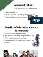 Benefits of Educational Robotics