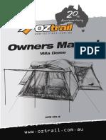 Dte-Vi9-e Villa Dome Instructions 20th Anniversary