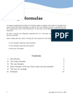 Sine Cosine Triangle Formulae