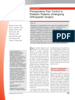 755 - Perioperative Pain Control in Pediatric Patients Undergoing Orthopaedic Surgery