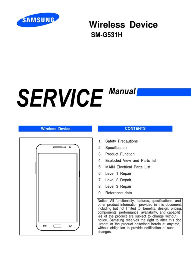 Sm-g531h Service Manual | Electrostatic Discharge | Electronics