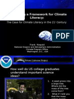 NOAA Climate Literacy by Dr. Frank Niepold, Fermilab 2008