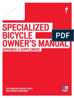 CEN Bicycle Owner s Manual Appendix